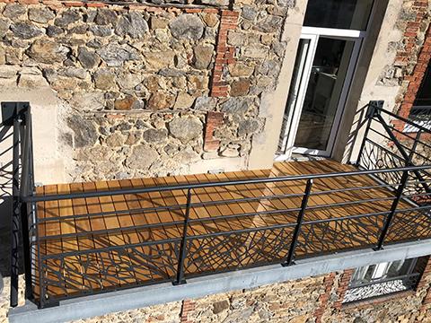 Chantier Balcon particulier avec terrasse bois